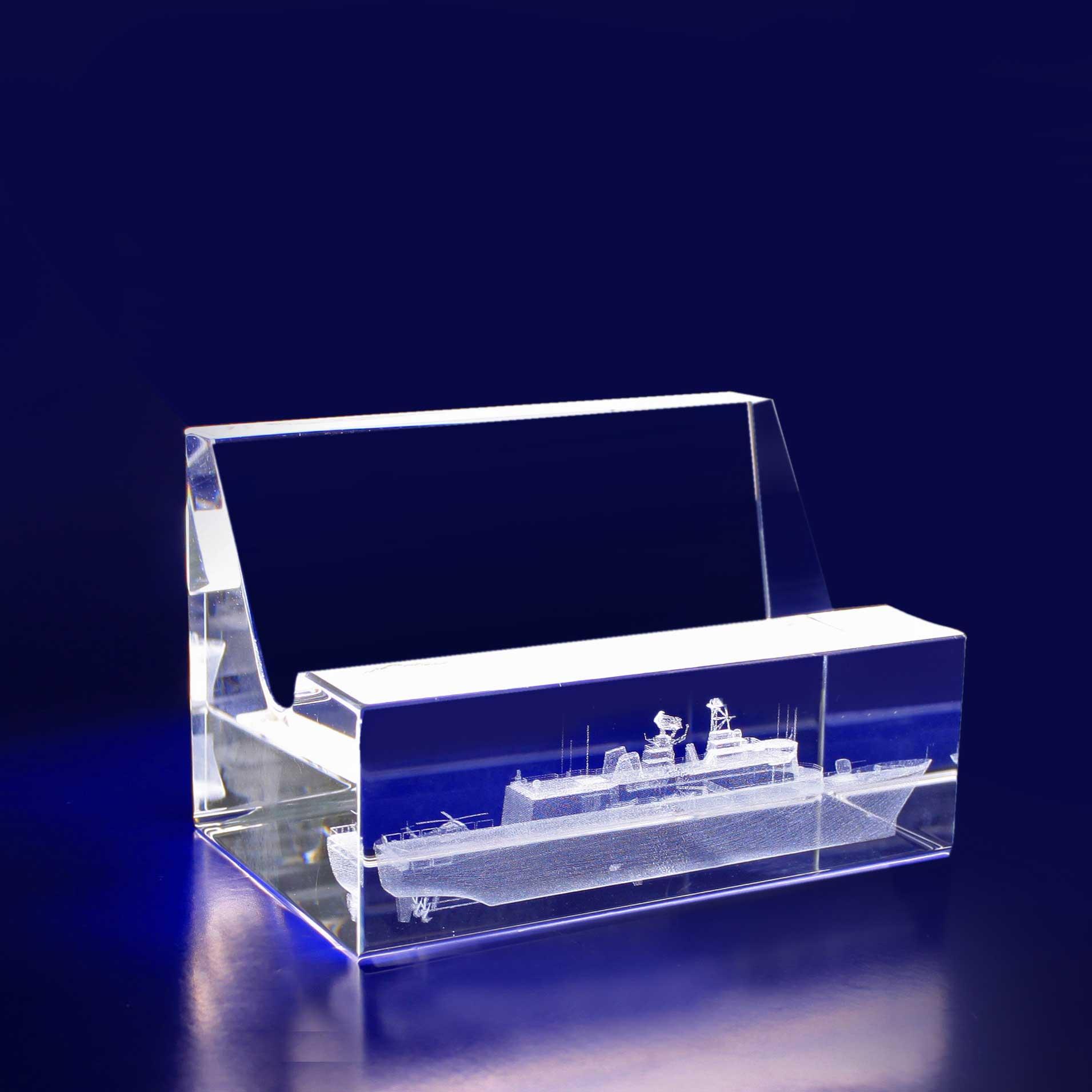 3D Crystal - Business Card Holder