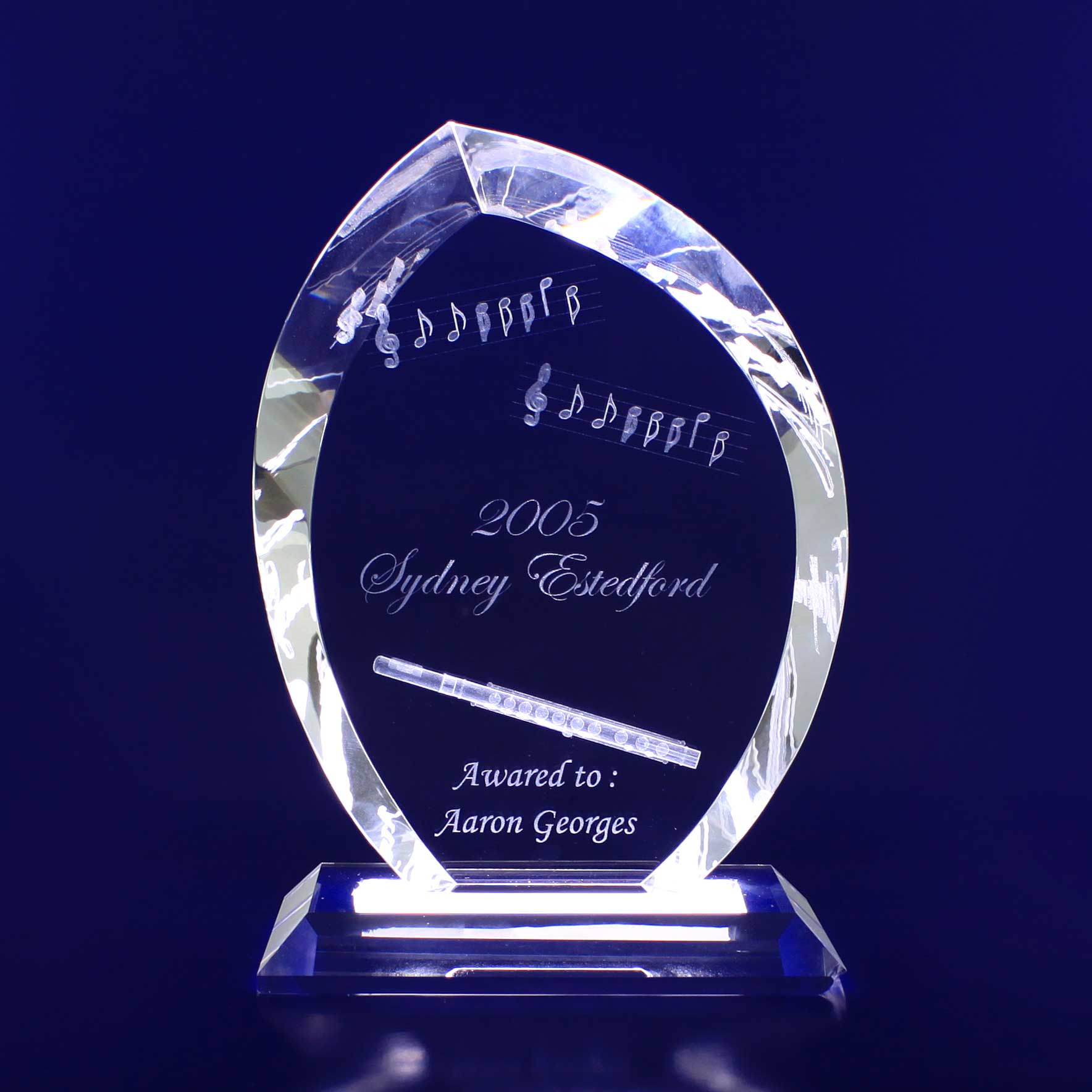 3D Crystal - Flame Trophy