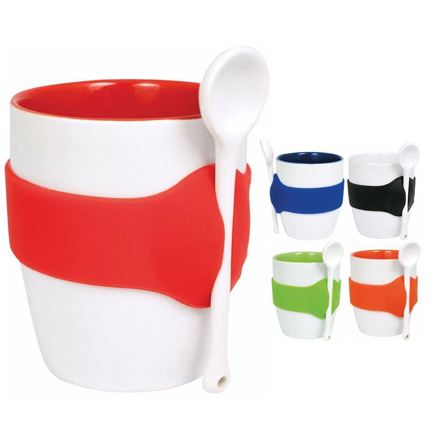 Geko Coffee Mug with Spoon
