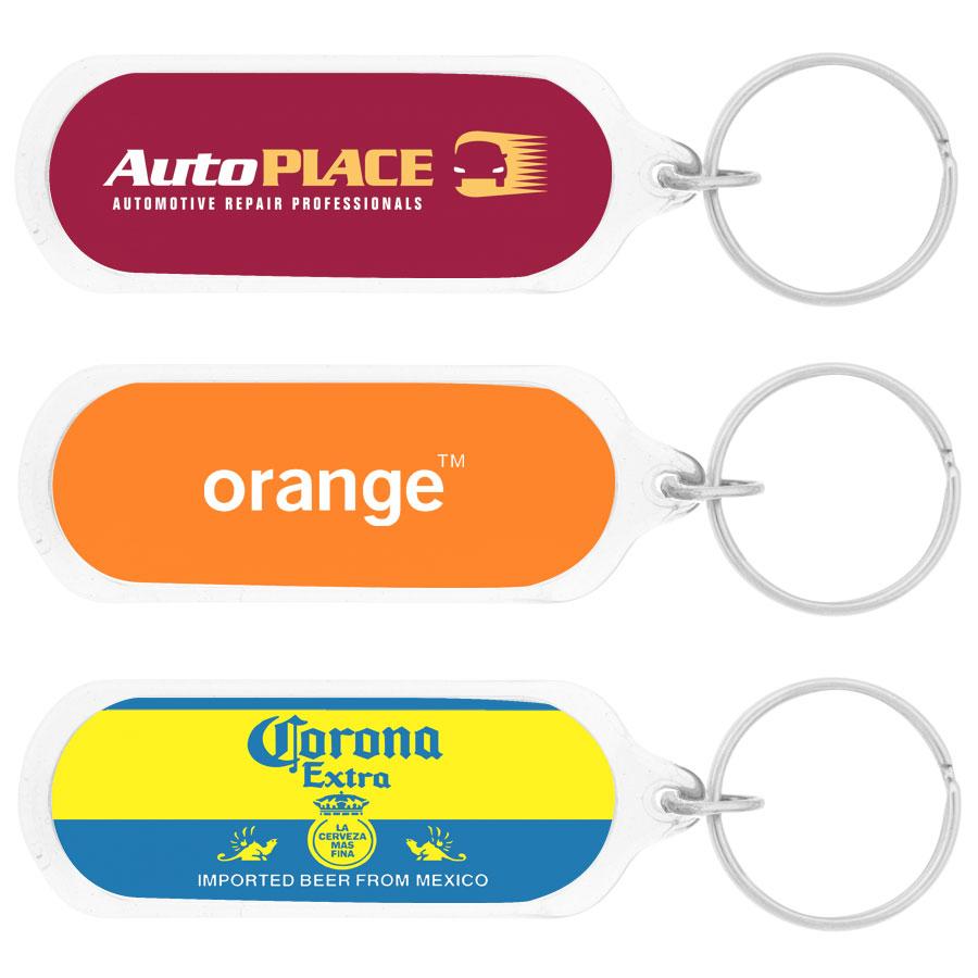 Oval Acrylic Keychain