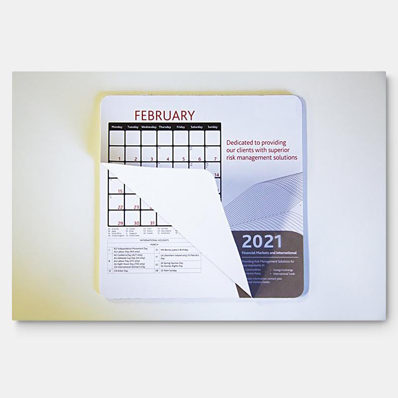 230mm x 190mm x 1mm Calendar Mouse Mat