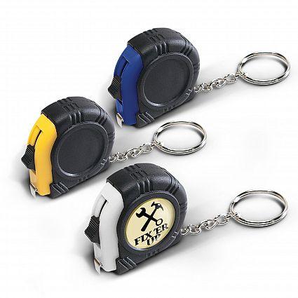 Rubber Tape Measure Key Ring