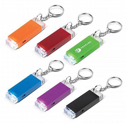 Crystal Block LED Key Chain