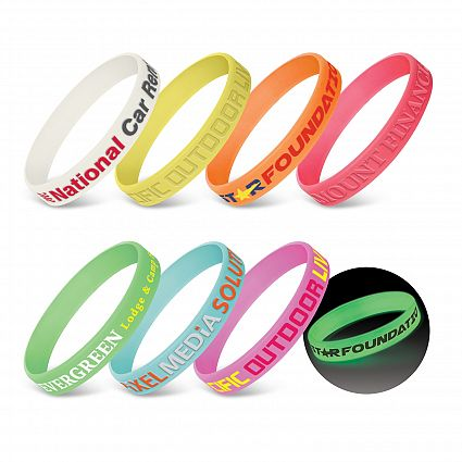Silicone Wrist Band - Glow in the Dark