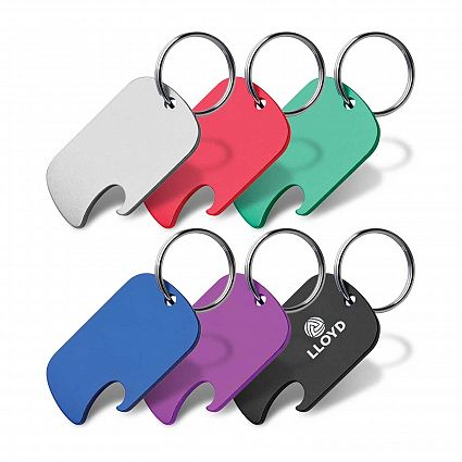 Dog Tag Bottle Opener Key Ring