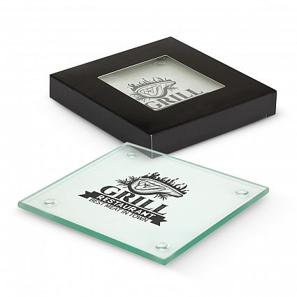 Venice Glass Coaster Set of 2 - Square