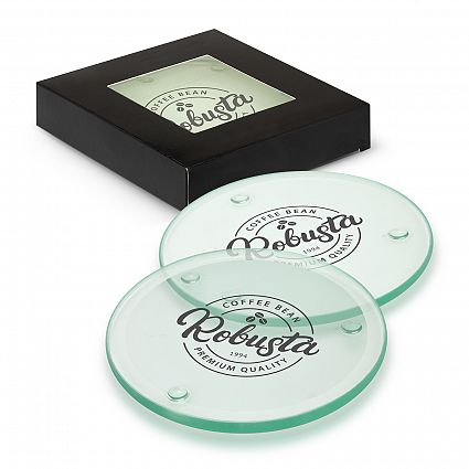 Venice Glass Coaster Set of 4 - Round