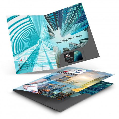 A4 Presentation Folder with Spine